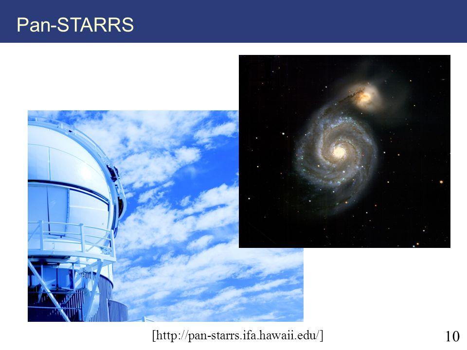Pan-STARRS [http://pan-starrs.ifa.hawaii.edu/] 10 10
